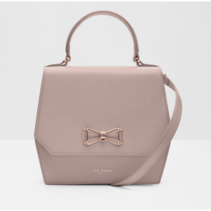 Geometric bow leather bag