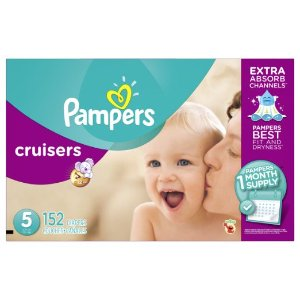 Pampers Cruisers Diapers, Size 5, 152 Count