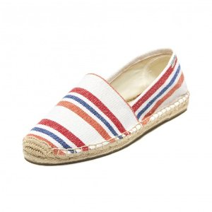 Soludos Provence Stripe Canvas Original Slipper in Red Orange Stripe - Soludos Espadrilles
