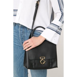 Black - Mini Ave A Top Handle Crossbody Bag