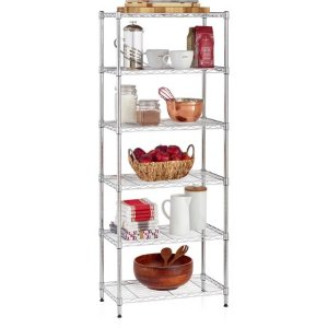 Work Choice 6-shelf Commercial Wire Shelving Convertible Rack, 13
