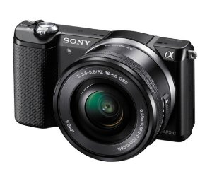 $298 Sony Alpha a5000 Mirrorless Digital Camera with 16-50mm Lens