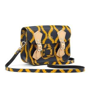 Navy Squiggle/Yellow Vivienne Westwood Tiny Satchel | The Cambridge Satchel Company