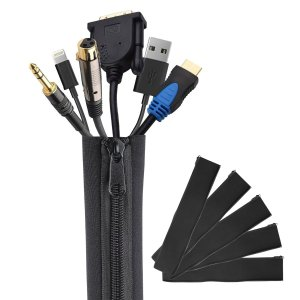 Intey Cable Management Sleeve,19 - 20 inch 5 piece