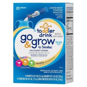 Similac® Go & Grow Vanilla Toddler Drink Powder Sticks - 16 Count : Target