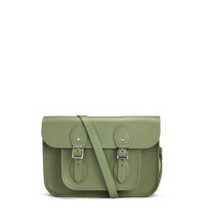 Ivy Green 11 inch Satchel with Magnetic Closure | Cambridge Satchel