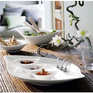 New Cottage Serve & Salad Divided Platter 19 1/2 in - Villeroy & Boch