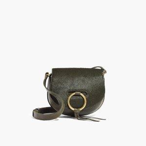 The Lisbon O-Ring Mini Saddlebag in Calf Hair : AllProducts | Madewell