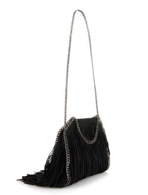 Stella McCartney Falabella Fringed Faux-Suede Cross-Body Bag