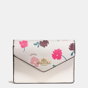 ENVELOPE card case in daisy field print coated canvas by Coach | Spring - Free Shipping. On Everything
