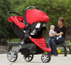$317.58(reg.$439.99) Britax B-Agile 35 Travel System, Red