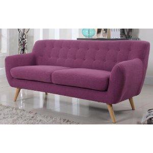 Modern Tufted Purple Fabric Sofa - Sofamania