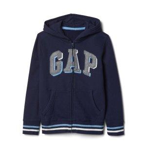 Shadow logo fleece zip hoodie | Gap