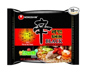 $17.26 Nongshim Shin Black Noodle Soup, Spicy, 4.58 (Pack of 10)