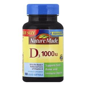 Nature Made Vitamin D3 1000 IU Dietary Supplement Liquid Softgels | Walgreens