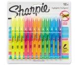Sharpie Accent Pocket Style Highlighter, Chisel Tip, Assorted Ink, 12 per Set
