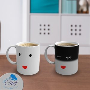 $6.99 Chuzy Chef Color and Face Changing Ceramic Coffee Mug 12 oz