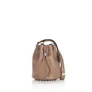 ALPHA BUCKET IN LATTE WITH ROSE GOLD - NUDE by Alexander Wang