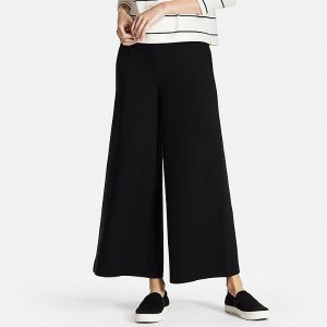 WOMEN MILANO RIBBED WIDE PANTS