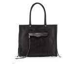 Rebecca Minkoff MAB Medium Leather Tote Bag, Black