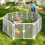 North States便携式儿童玩乐区域安全围网6片装 和2片延展套装