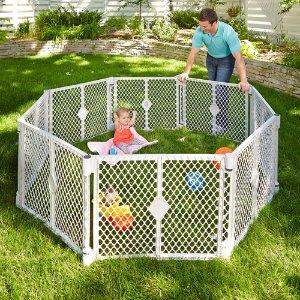 $68(原价$85.71)North States便携式儿童玩乐区域安全围网6片装 和2片延展套装