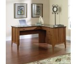 Sauder Appleton Collection Faux Marble Top L Desk 30 34 H x 60 W x 59 D Sand Pear by Office Depot & OfficeMax