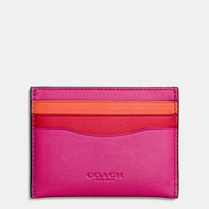 FLAT card case in colorblock glovetanned leather by Coach | Spring - Free Shipping. On Everything