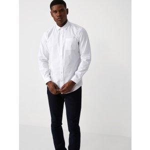 Slim-Fit Poplin Cotton Shirt in Bright White | Frank + Oak