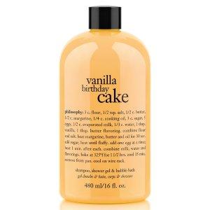 philosophy 'vanilla birthday cake' shampoo, shower gel & bubble bath   Nordstrom