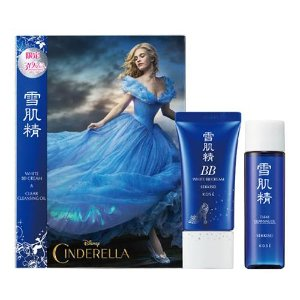 20% Off KOSE White BB Cream 27ml + Clear Cleansing Oil 35ml 30th Anniversary Cinderella