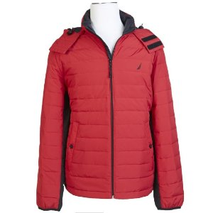 DOWN-BLEND QUILTED PUFFER JACKET