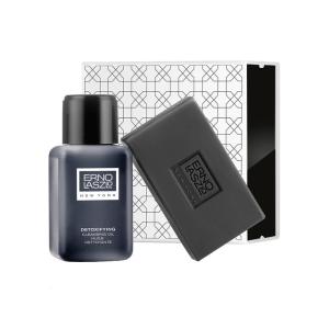 Erno Laszlo Detoxifying Double Cleanse Travel Set (Exfoliate & Detox) | 3 piece kit | askderm
