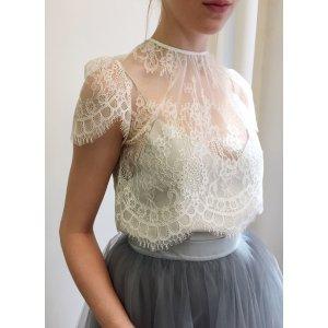 Short Sleeve - Elliot Blouse - Ivory — Alexandra Grecco