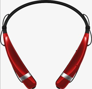 $24.98 LG Electronics Tone Pro LBT760-RED Bluetooth Wireless Stereo Headset