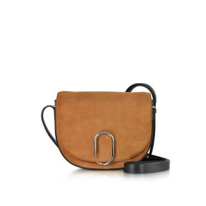 3.1 Phillip Lim Alix Maple Suede and Black Leather Saddle Crossbody at FORZIERI