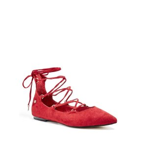 Mulan Lace-Up Flats | GbyGuess.com