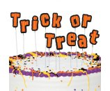 Trick-or-Treat Letters Halloween Cake Topper