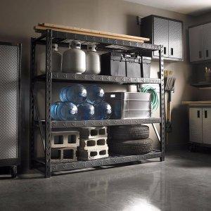 Gladiator Premium Welded Steel Rack Shelving Unit, 77