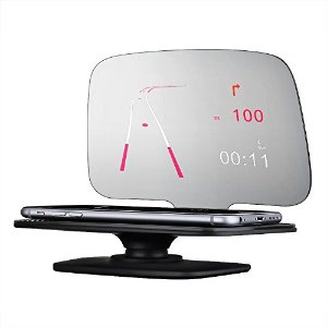 Mpow Universal Head Up Display,Car GPS HUD with Overspeed Warning, Vehicle Speed, Engine Speed for Smartphone Navigation
