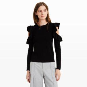 Women | Crewnecks | Colema Cold Shoulder Sweater | Club Monaco