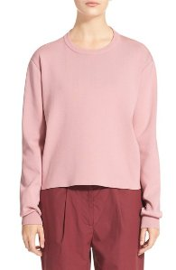 Acne Studios 'Misty Clean' Cotton Crewneck Sweater