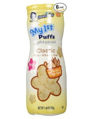 $8.64Gerber Graduates My 1st Puffs, Classic Rice/Wheat Oat, 1.48 Ounce (Pack of 6)