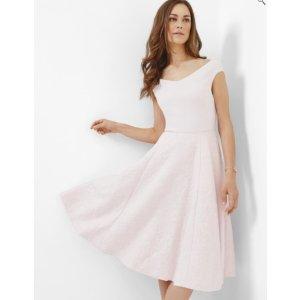 Bardot textured dress - Nude Pink   Dresses   Ted Baker