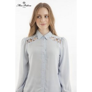 Cripsy Cross Shirt (Blue) - Miss Patina - Vintage Inspired Fashion