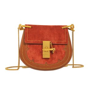 Drew Mini Shoulder Bag Chloé Red - Monnier Frères