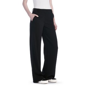 POLY CREPE WIDE LEG TROUSERS | PANTS | Alexander Wang Official Site
