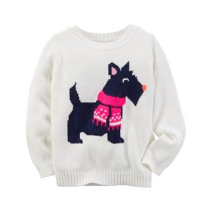 Baby Girl Animal Sweater   Carters.com