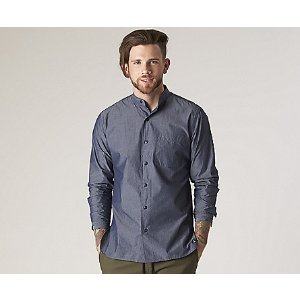 Men's Banded Collar Button-Down Shirt - Tops & T-Shirts | Sperry