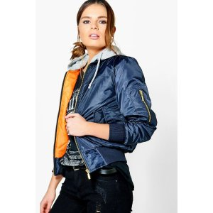 Jessica Hooded Bomber Jacket